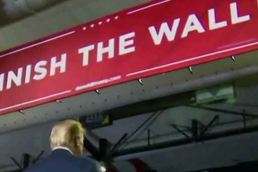 Trump misstates of border that he's 'already done a lot of wall'