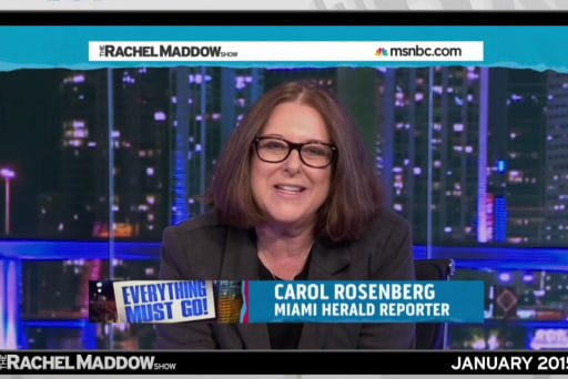 Maddow: Rosenberg, journalistic treasure, should keep her job
