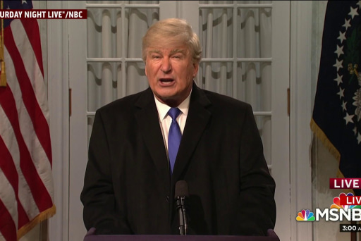 Baldwin spoofs Trump in SNL cold open