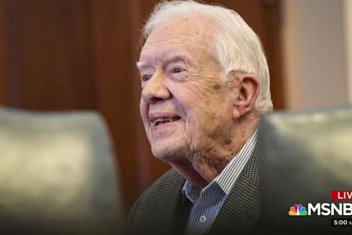 Jimmy Carter becomes oldest living US president