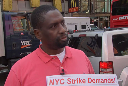 Uber and Lyft drivers go on rush hour strike to protest low pay