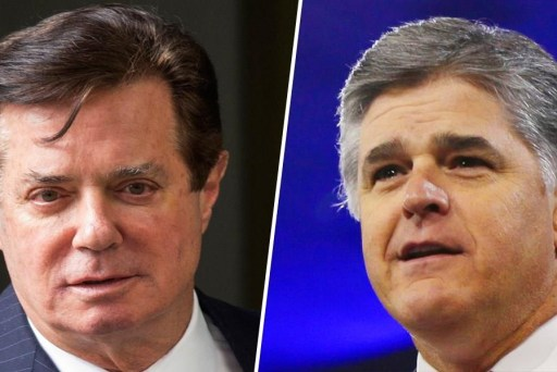 Manafort and Hannity exchanged hundreds of texts