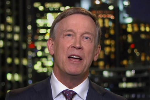 John Hickenlooper on getting booed by Democrats