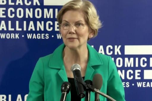 Elizabeth Warren and more slowly erasing Joe Biden's lead