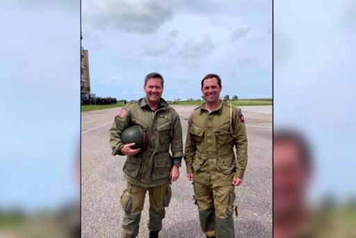 Congressman pays tribute to D-Day with plane jump