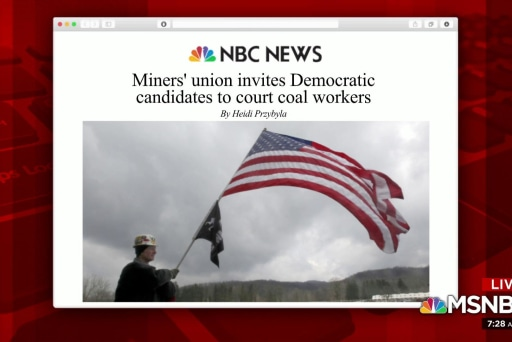 Miners' union invites '20 Dems to coal country