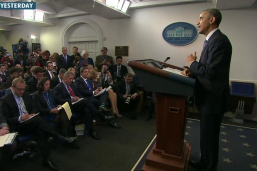 Confident, cordial Obama met the press