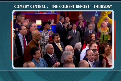Behind the scenes of Colbert Report's...