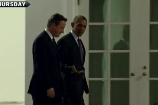 Obama, Cameron hold meetings in DC