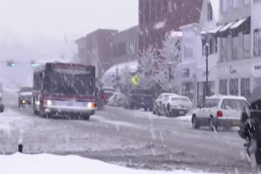 Snow blankets the Northeast