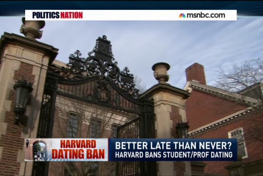 Harvard bans sex between teachers and...