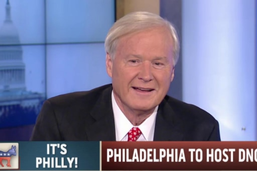 Chris Matthews breaks into song over Philly