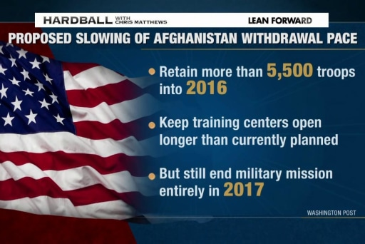 A slow US troop withdrawal from Afghanistan