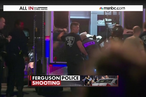 Manhunt underway after Ferguson police ambush