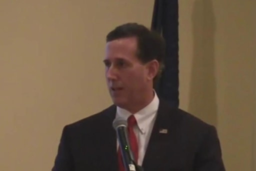 Santorum tested by 'dictator' question