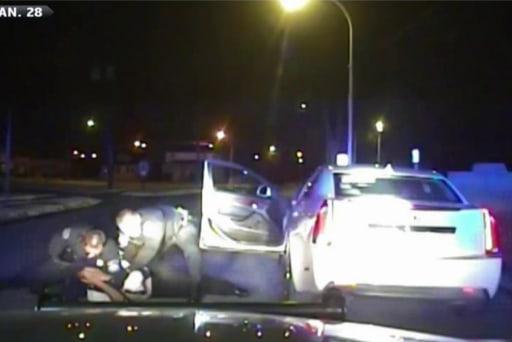 MI policeman fired after beating motorist