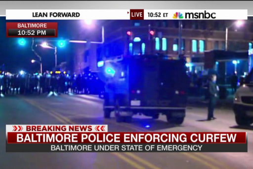 How Baltimore is responding to the curfew