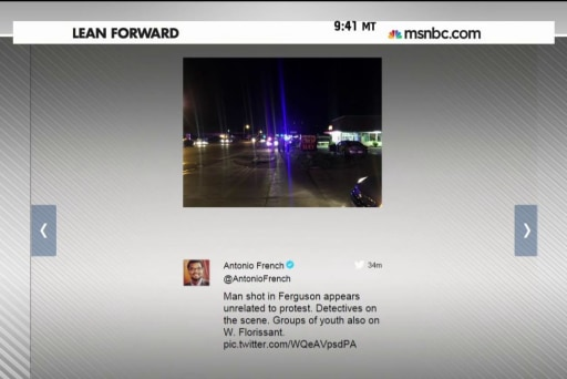 Shooting reported in Ferguson