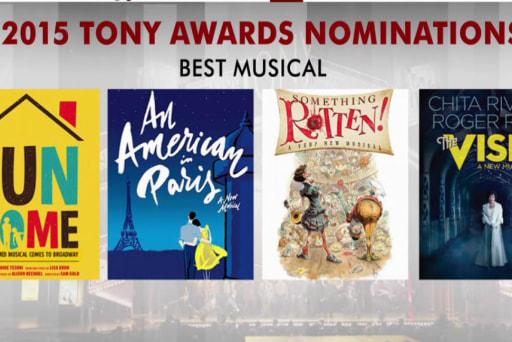 Three musicals top 2015 Tony nominations