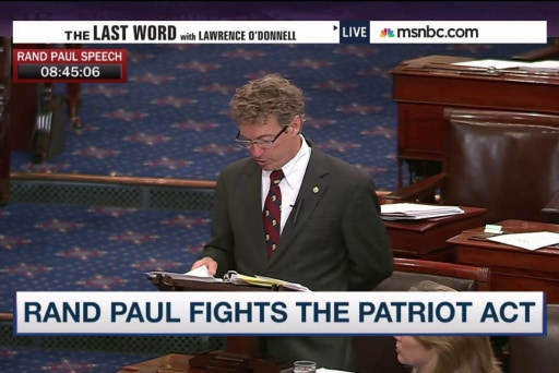 Rand Paul's NSA fight rips up party lines