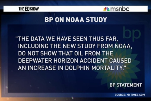 Study links 2010 BP oil spill to dolphin...