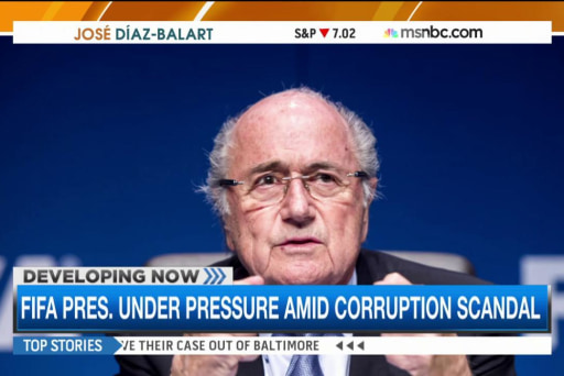 Sepp Blatter faces pressure amid FIFA scandal
