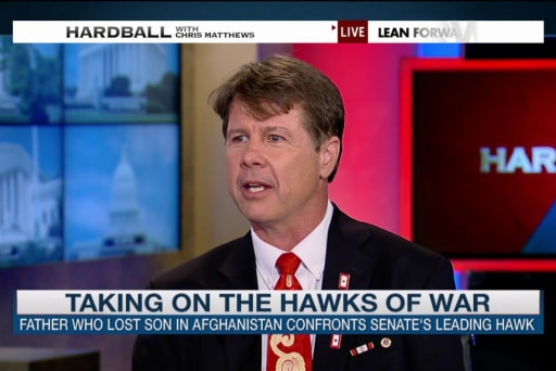 Father takes a stand against war hawks