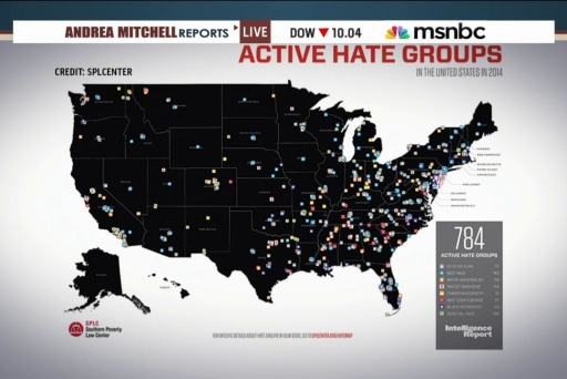 Number of hate groups in the US on the rise