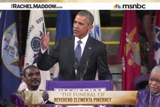 President Obama on amazing change and grace