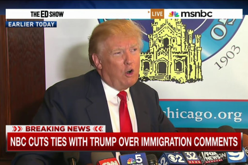 NBCUniversal drops Trump over immigration...