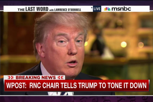 Report: RNC boss asks Trump to tone it down