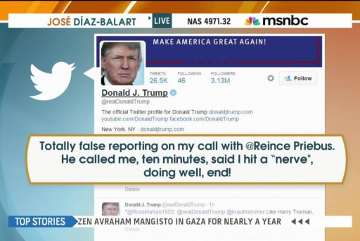 Trump pushes back on reported RNC call