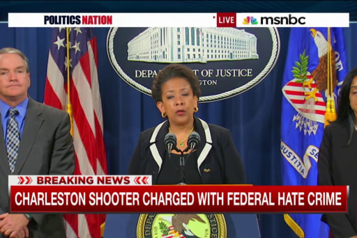 AG Lynch announces charges for Dylann Roof