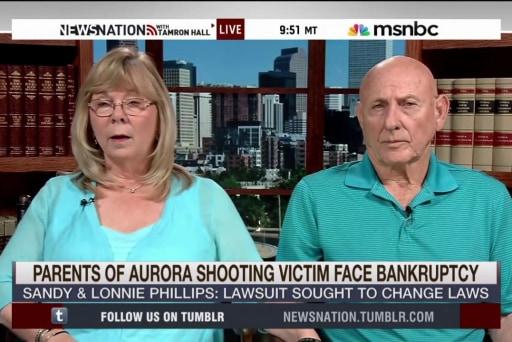 Aurora shooting victims' parents face fees