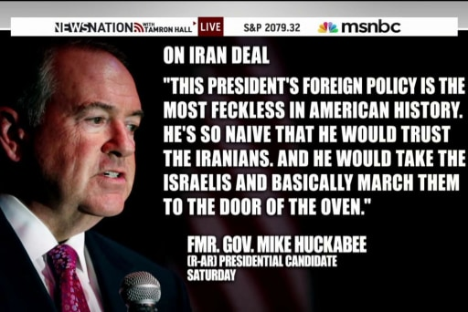 Huckabee stands by Holocaust comments