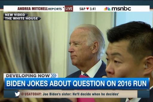 Biden jokes about question on 2016 run