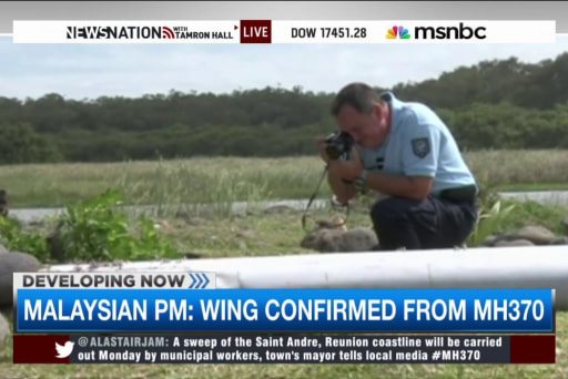 Malaysian PM: Wing confirmed from MH370