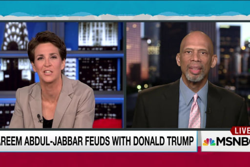 Kareem Abdul-Jabbar takes on Donald Trump