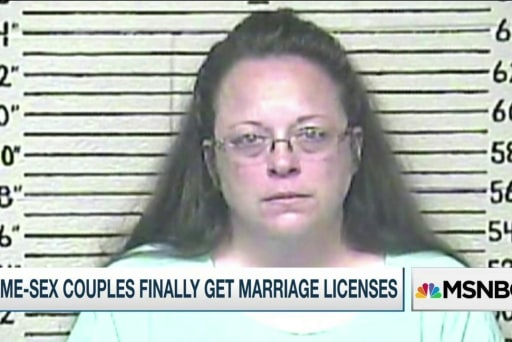 KY clerk jailed; County issues marriage...
