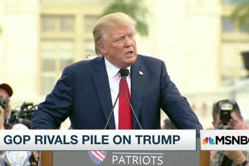 GOP rivals pile on Donald Trump