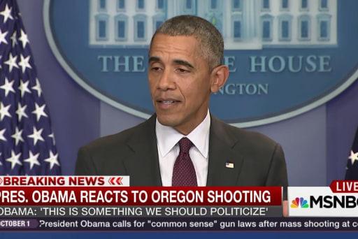 Pres. Obama: 'We should politicize' shootings