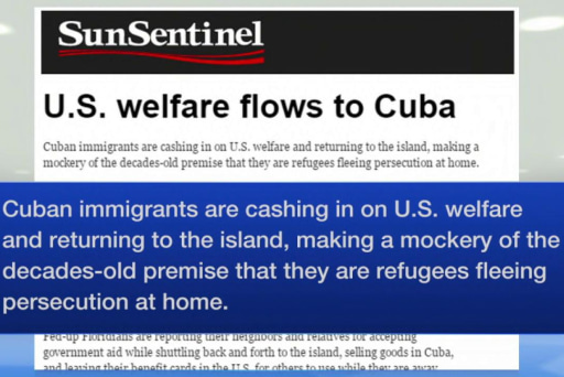 Cubans take advantage of U.S. welfare
