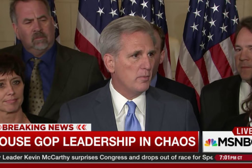 McCarthy's withdrawal plunges GOP into chaos