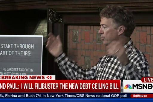 Paul: I will filibuster new debt ceiling bill