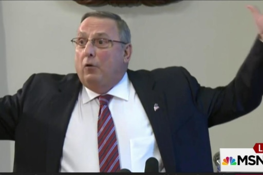 Maine governor flips to admit racial remark