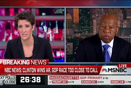 Rep. Lewis hits Trump themes as 'repugnant'