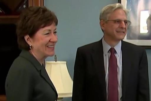 Sen. Collins urges GOP to meet with Garland