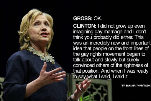 Hillary Clinton's awkward gay rights...