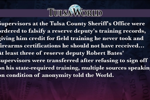 Tulsa World News: Supervisors falsified docs
