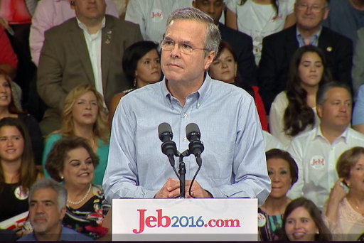 2016: Jeb Bush is in, Donald Trump is... ?